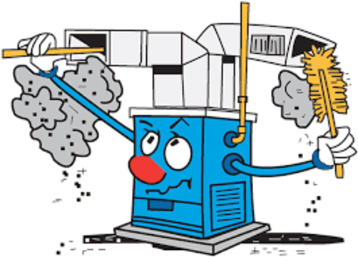 cartoon for furnace cleaning